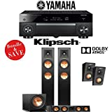 Yamaha AVENTAGE RX-A1070BL 7.2-Ch 4K Network AV Receiver + Klipsch RP-250F + Klipsch RP-440C + Klipsch R-112SW + Klipsch RP-140SA - 3.1.2-Ch Dolby Atmos Home Theater Package