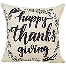 GBSELL Pillow Cover Thanksgiving Day Letter Pillow Case Sofa Party Home Decor Throw Cushion