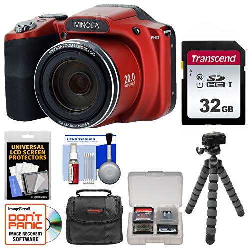 Minolta MN35Z 1080p 35x Zoom Wi-Fi Digital Camera  with 32GB
