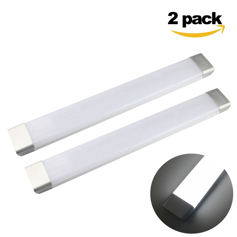 GALYGG 2ft LED Tube Light, 26W 2300LM 6500K ( Daylight White ) Fluorescent Tubes Replacement, Lighting Fixtures for Garage Closet - 2 Pack
