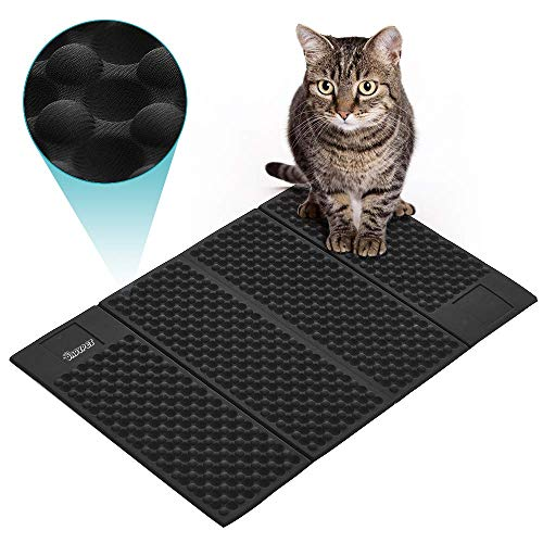 DADYPET Cat Litter Mat, Double-Sided Cat Litter Trapper, Waterproof Foldable Kitty Litter Mat Scatter Control for Litter…
