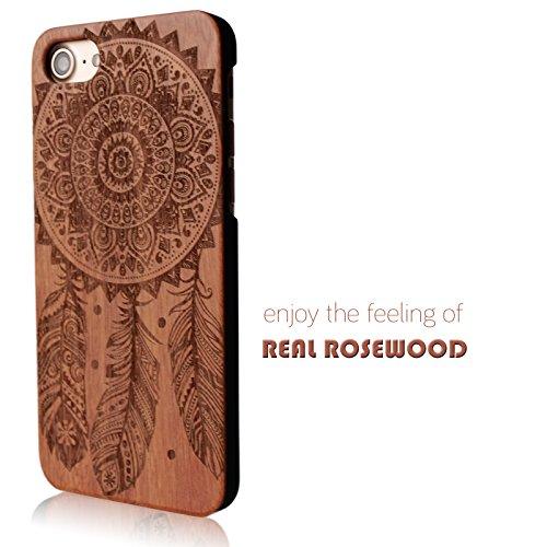 Holz Hülle für Apple iPhone 6 6s Hart Case Cover Schutz Handy Tasche 100% ECHTHOLZ mit Traumfänger Motiv Dünn Schutzhülle Handyhülle
