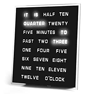 LED Word Clock - Displays Time As Text