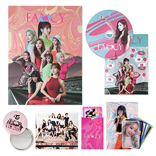 Price comparison product image TWICE 7th Mini Album - FANCY YOU [ A ver. ] CD + Photobook + Lenticular Card + Photocards + Sticker + OFFICIAL PHOTOCARD SET + OFFICIAL POSTER + FREE GIFT