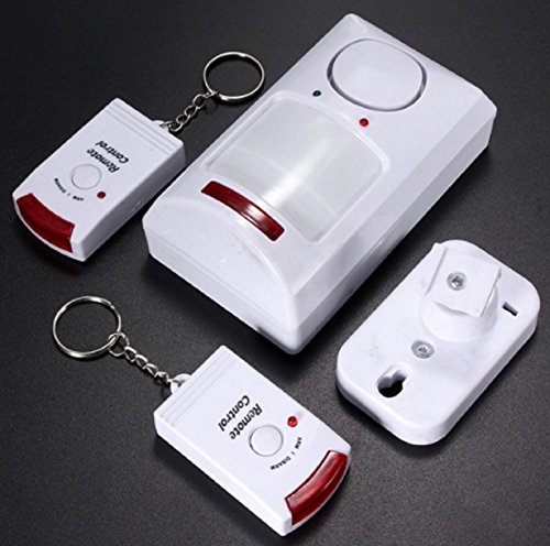 Rainbow Flashing Keypad (NEW! Portable IR Wireless Motion Sensor Detector + 2 Remote Home Security Burglar Alarm System)