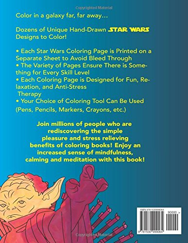 Amazon Star Wars Coloring Book Art Therapy Stress Relief 9781530999064 Alexandra Holodny Books
