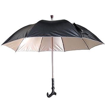 DOLIROX multifuncional resistente al viento creativa grande en T caña paraguas bastón paraguas para senderismo y