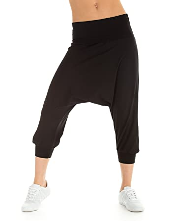 Winshape Damen Trainingshose Dance Fitness Freizeit Sport Haremshose,  Schwarz, XS 562ba6f9e8