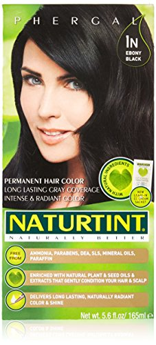 Colorant Permanent Hair (Naturtint - Permanent Hair Colorant - 1N Ebony Black, 5.6 Fl Oz (Packaging May Vary))
