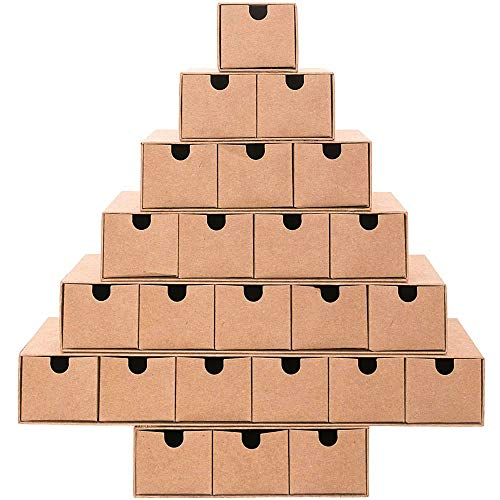 Luck DIY Advent Calender Tree Design Fill Yourself with 24 Mini - Luck Own Make Sticker Your