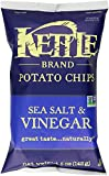 Kettle Brand Potato Chips, Sea Salt & Vinegar, 5-Ounce Bag