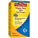Nature Made Triple Flex 50 Plus Triple Strength with Glucosamine and Chondroitin, Dietary Supplement for Joint Support, 120 Caplets, 60 Day Supply