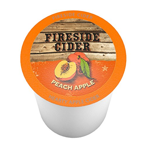 Fireside Cider Peach Apple Single-Cup Cider for Keurig K-Cup Brewers, 40 Count (Brewers Side)