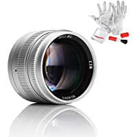 7artisans 50mm F1.1 Fixed Lens for Leica M-Mount Cameras Like Leica M2 M3 M4-2 M5 M6 M7 M8 M9 M10 M4P M9p M240 M240P ME M262 M-M CL - Silver
