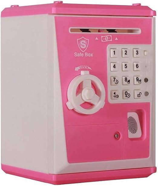 HUVE Caja de Seguridad con Cierre de Huella Digital para niños y ...