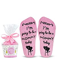Cavertin Labor and Delivery Socks with Non Skid Grip & Cupcake Gift Packaging | Perfect Baby Shower Gift | Pretty Hospital Socks | Maternity Gift For Women | Best Birth Socks