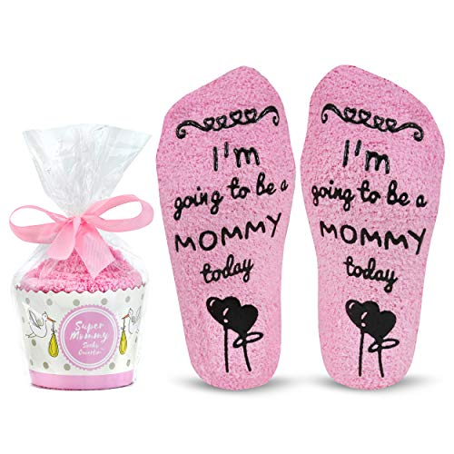 - Cavertin Labor and Delivery Socks with Non Skid Grip & Cupcake Gift Packaging | Perfect Baby Shower Gift | Pretty Hospital Socks | Maternity Gift For Women | Best Birth Socks