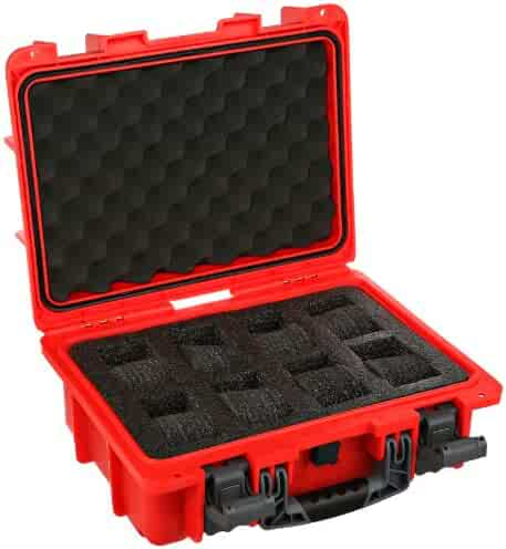 Invicta DC8RED 8 Slot Red Plastic Watch Case