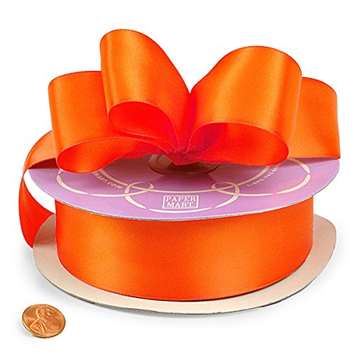 Torrid Orange Double Face Satin Ribbon, 1-1/2