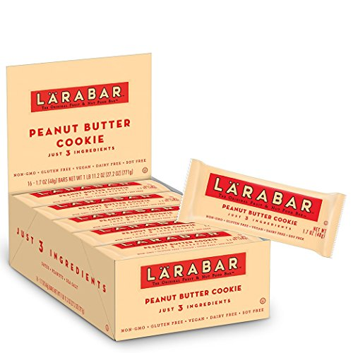 (Larabar Gluten Free Bar, Peanut Butter Cookie, 1.7 oz Bars (16 Count), Whole Food Gluten Free Bars, Dairy Free Snacks)