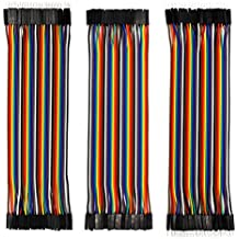 120pcs Multicolored Dupont Wire Kit 40pin Male to Female, 40pin Male to Male, 40pin Female to Female Breadboard Jumper Wires Ribbon Cables Kit for Arduino / DIY/ Raspberry Pi 2 3 (Pack of 120)