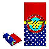 JPI Beach Towel - Wonder Woman Logo - Beach Towel Oversized 58' x 28' - Use as Luxury Bath Towel, Yoga Towel, Travel Towel, Camping Towel, Gym Towel, Pool Towels, on Beach Cart & Beach Chairs