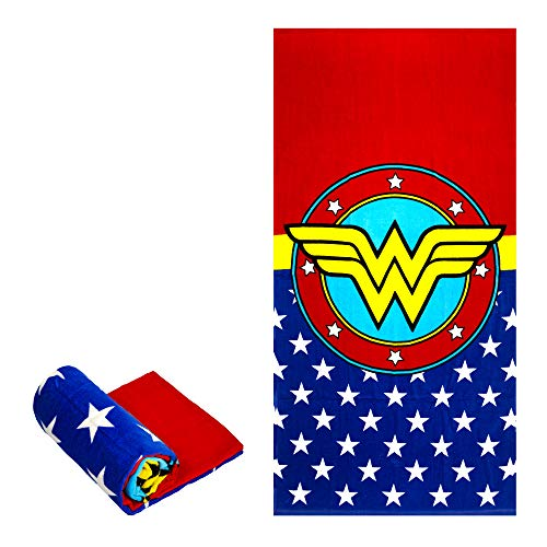 JPI Beach Towel - Wonder Woman Logo - Beach Towel Oversized 58