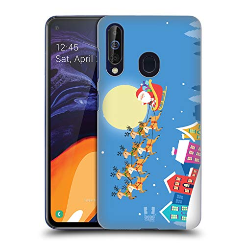 Head Case Designs Santa On His Sleigh Jolly Christmas Toons Hard Back Case Compatible for Samsung Galaxy A60 (2019)