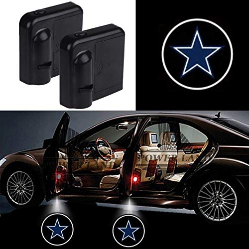 For Dallas Cowboys Car Door Led Welcome Laser Projector Car Door Courtesy Light Suitable for all vehicles.