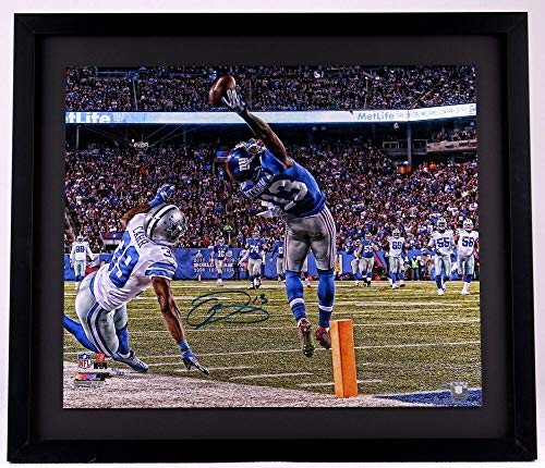 ODELL BECKHAM JR. New York Giants Signed 'One Handed Catch' Metallic Paper Framed 20 x 24 Photo (Overall Dimensions are 24 x 28) STEINER Limited Edition of 113