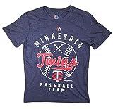 Minnesota Twins Youth Navy Blue Baseball Logo T-Shirt