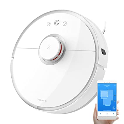 XiaoMi Mi Robot Vacuum Roborock S5 Sweep-Mop Robotic Cleaner Wi-Fi & Alexa  Connected Laser Navigating Strong Suction for All Floor Types with Mopping