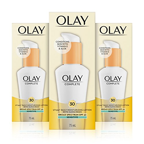 Complete Lotion - Olay Complete Lotion Moisturizer with SPF 30 Sensitive, 2.5 Fluid Ounce, 3 Count