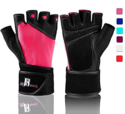Weight Lifting Gloves With Wrist Wrap - Best Lifting Gloves - Premium Weights Lifting Gloves, Rowing Gloves, Biking Gloves, Training Gloves, & Grip Gloves