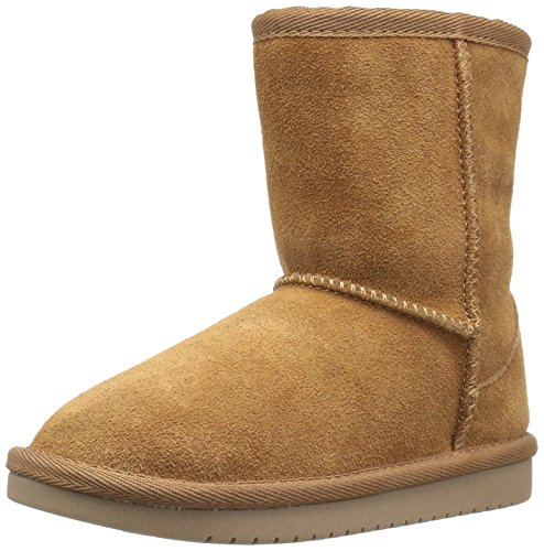 Koolaburra by UGG Girls' Koola Short Fashion Boot, Chestnut, 10 Toddler US (Faux Ugg Boots)