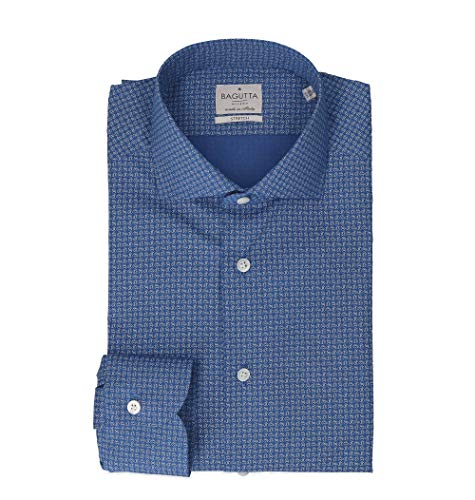 Bagutta Men's 342Ebl08973650 Blue Cotton Shirt