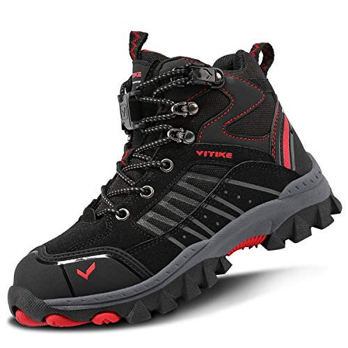 Boots Boys Winter Snow Sneakers Girls Running Trekking Climbing Outdoor Shoes Big Little Kids Waterproof Non-Slip Steel Buckle