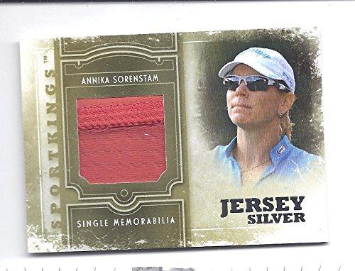 ANNIKA SORENSTAM 2012 Sportkings Series E Memorabilia Silver #SM18 Tournament-Worn Golf Shirt Card Only 90 Made! LPGA Women