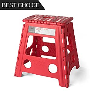 Acko 16 Inches Super Strong Folding Step Stool for Adults and Kids Red Kitchen Stepping Stools Garden Step Stool holds up to 400 LBS  sc 1 st  Amazon.com & Amazon.com: Acko 16 Inches Super Strong Folding Step Stool for ... islam-shia.org