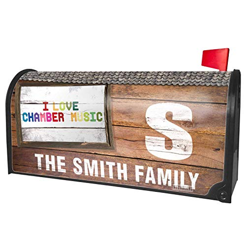 NEONBLOND Custom Mailbox Cover I Love Chamber Music,Colorful]()