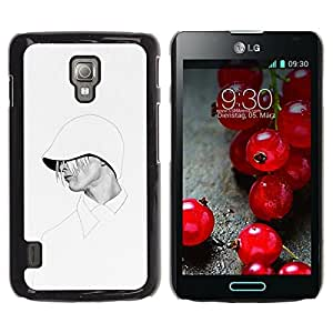 Cubierta protectora del caso de Shell Plástico || LG Optimus L7 II P710 / L7X P714 || Stylish White Fashion @XPTECH