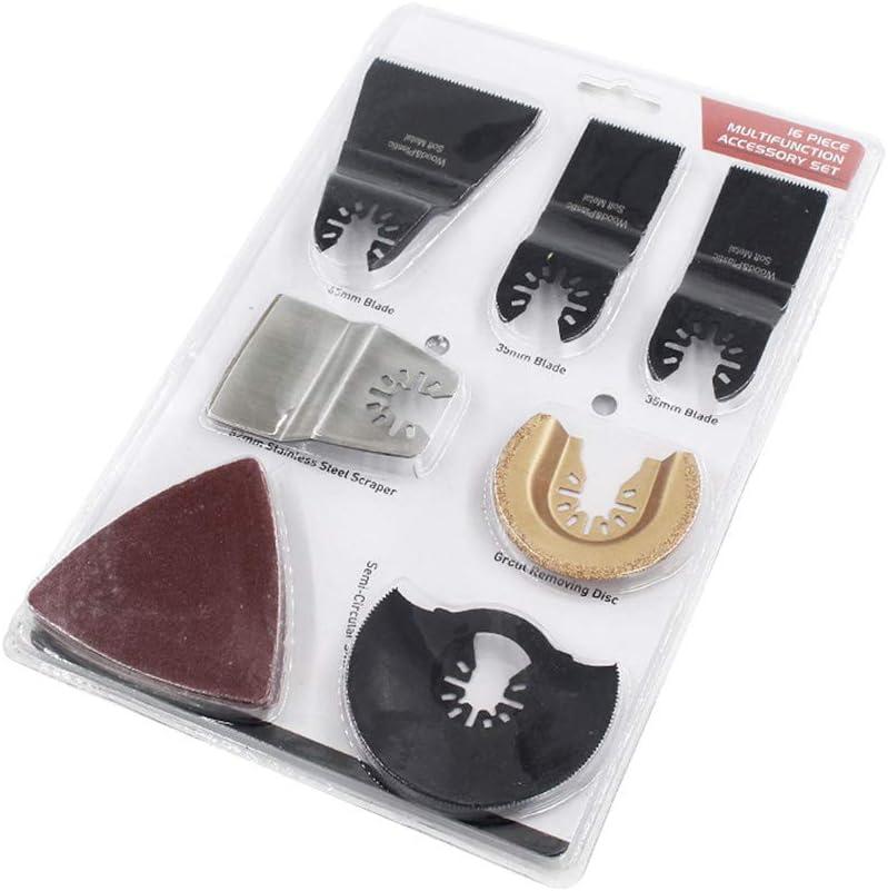 Lames de scie oscillantes en acier /à haute teneur en carbone kit daccessoires pour meuler//poncer//couper polyvalent 11,4 x 7,4 x 0,7 cm noir