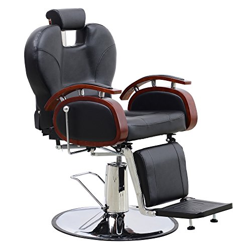 BarberPub All Purpose Hydraulic Barber Chair Salon Spa Styling Equipment (6154-8705, Black) from BarberPub