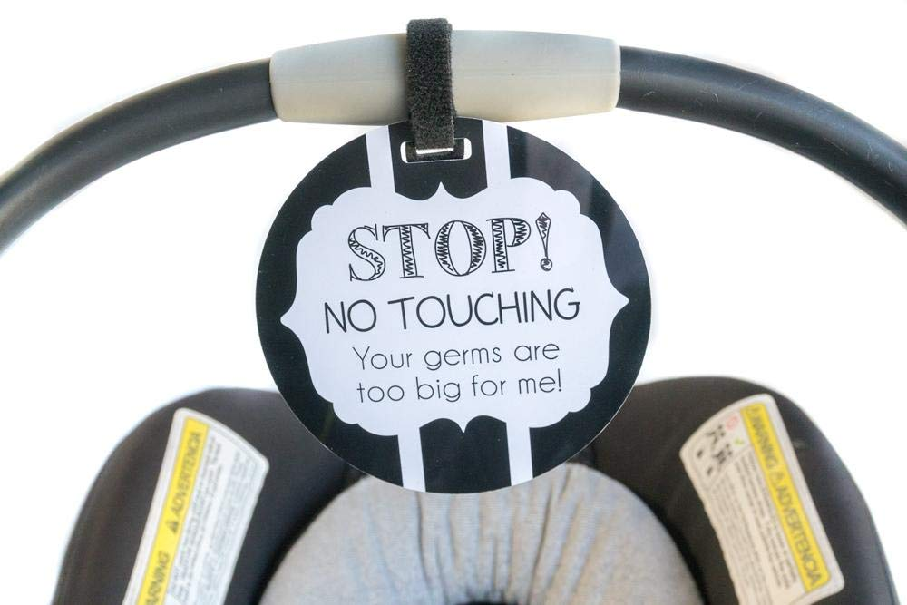 No Touching B/W Tag - Stop! No Touching! Your Germs Are Too Big For Me! Tags 4 Tots ArrowGirl