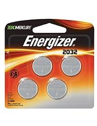 Energizer 2032BP-4 3 Volt Lithium Coin Battery - Retail Packa...