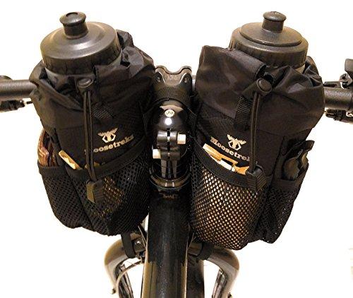 Moosetreks Bike Handlebar Stem Bag | Food Snack Storage, Water Bottle Holder | Bikepacking, Bicycle Touring, Commuting, Insulated Pouch by Moosetreks (Image #9)