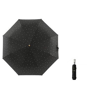Paraguas plegablesParaguas Plegable Paraguas Automático De Lluvia Y Sombrilla Paraguas Paraguas Protector Solar Brillar,Black: Amazon.es: Equipaje