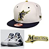 New Era 9Fifty Florida Marlins White Navy Snapback
