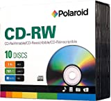 Polaroid PRCDRWD010J CD-RW 700MB 80-Minute 4x Rewritable Media Disc, 10-Pack Slim Case