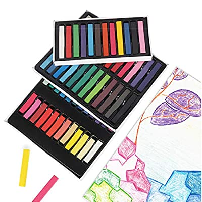 Unifizz Fantasy Closet Sidewalk Chalk for Kids Toddlers 36 Pieces Assorted Colors Washable Sidewalk Chalk Non Toxic Outdoor Chalk Outside ,Gift for Girs and Boys: Toys & Games
